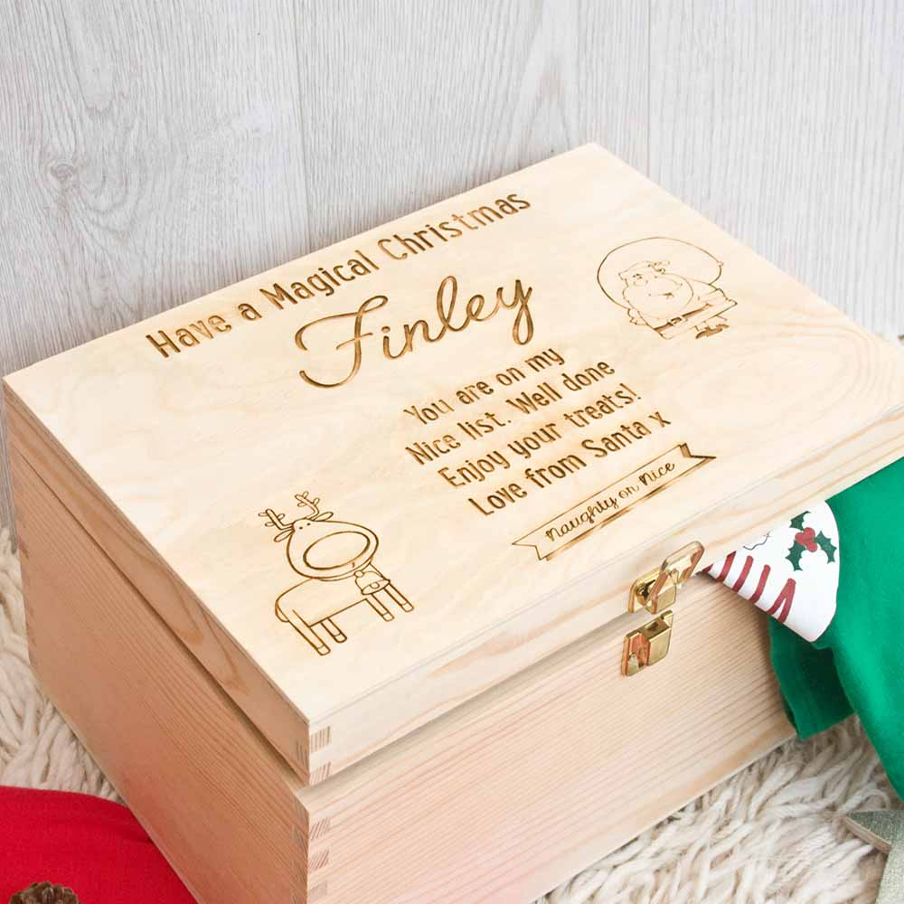 187 New Christmas Eve Box Santa Child Box