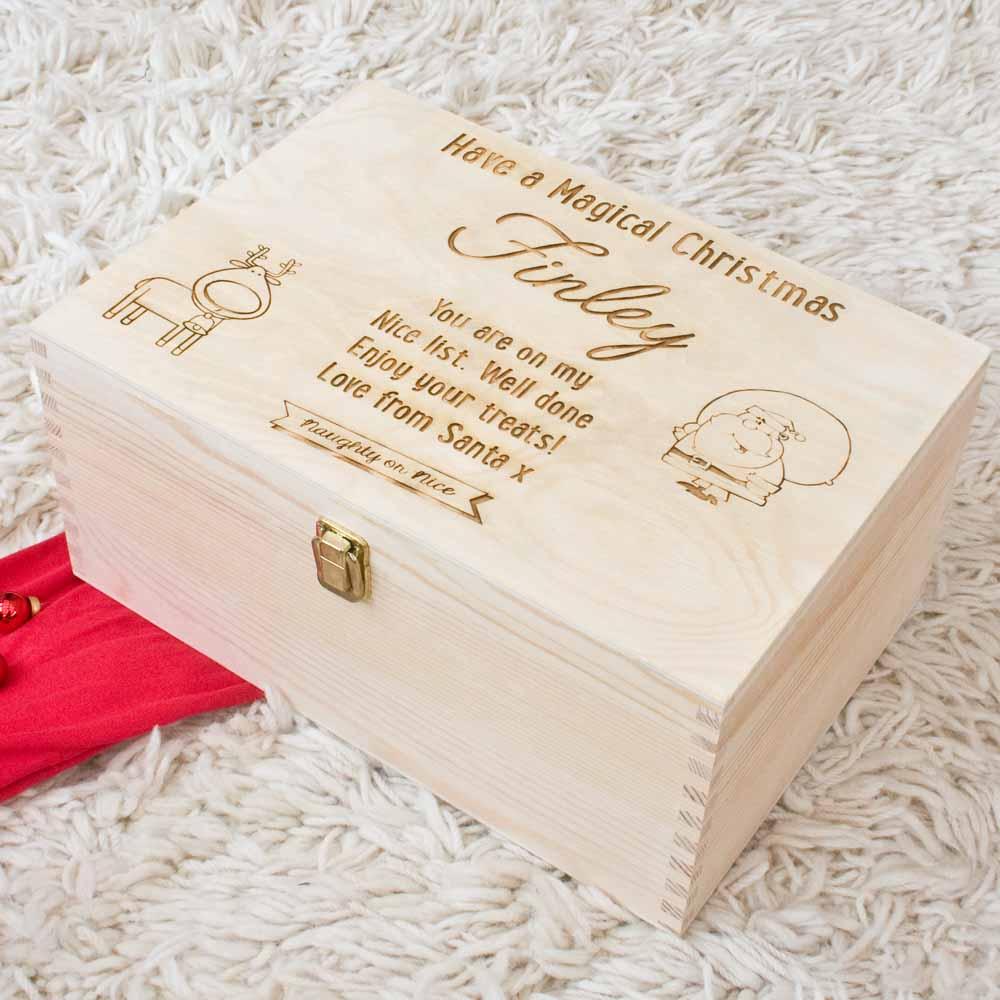 NEW - Christmas Eve Box, Santa Child Box - The Laser Boutique