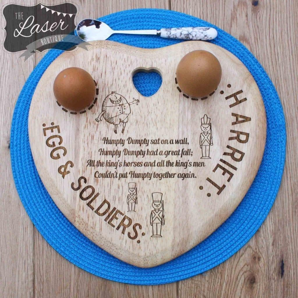 Children S Humpty Dumpty Heart Double Egg Board The