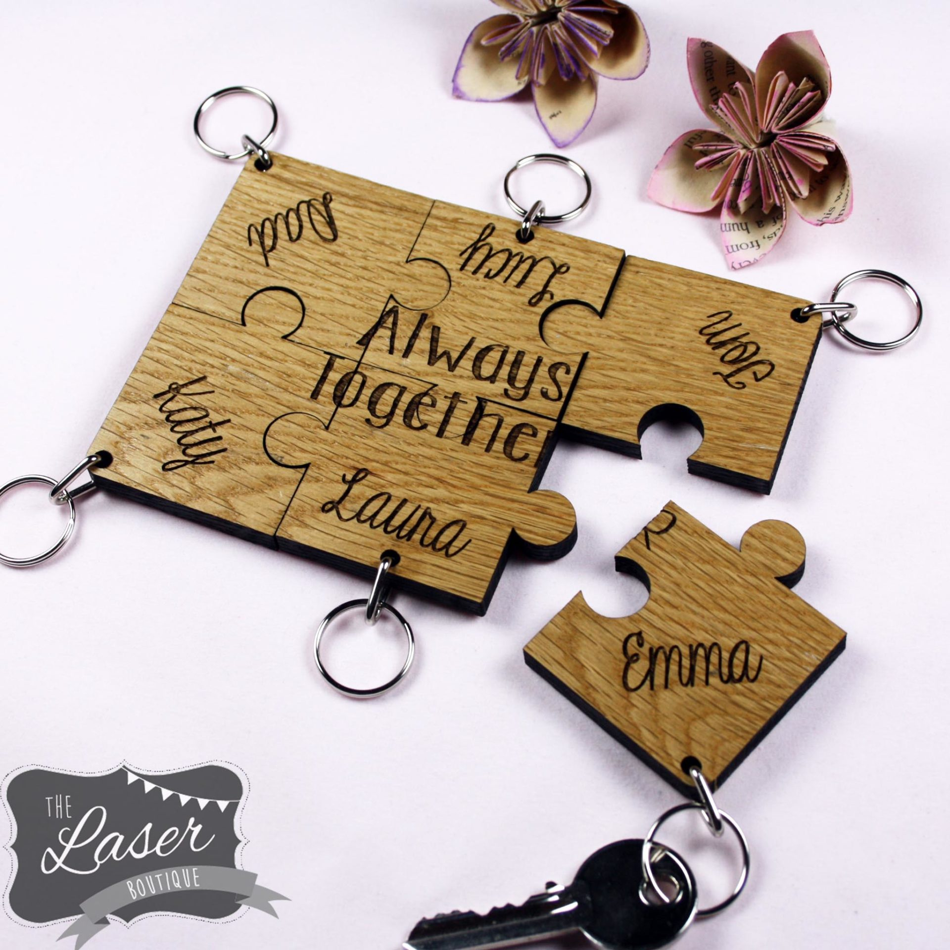 family jigsaw keyrings 4 6 the laser boutique