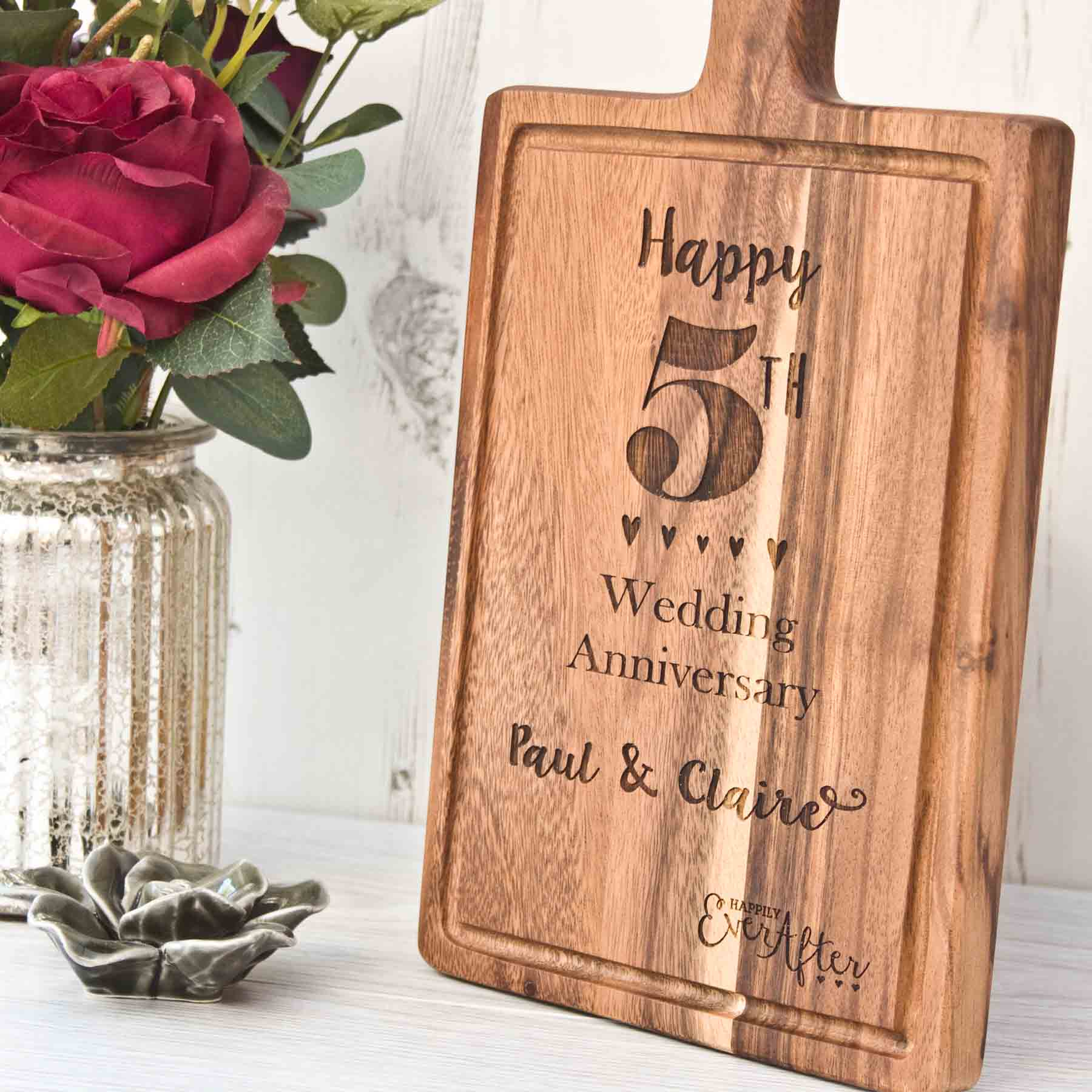 5th Year Wedding Anniversary Gift For Her : Wedding Anniversary 5th YearThe Laser Boutique