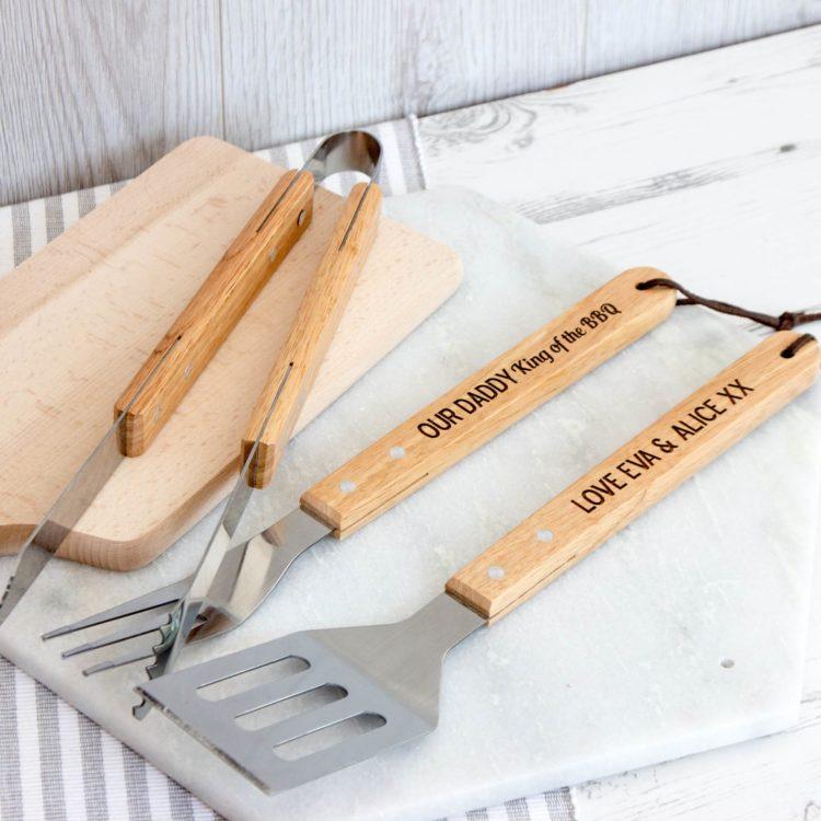 personalised bbq tool set