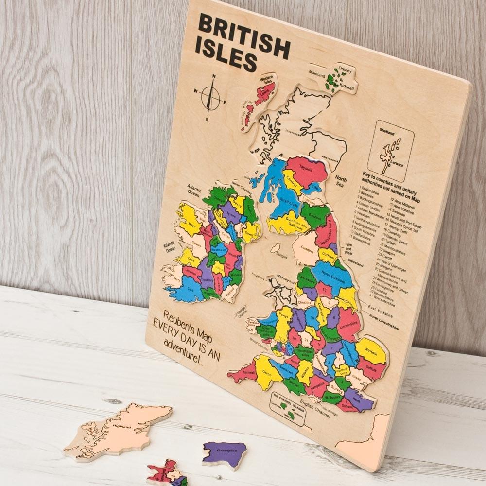Map Of Uk Jigsaw.British Isles Inset Puzzle