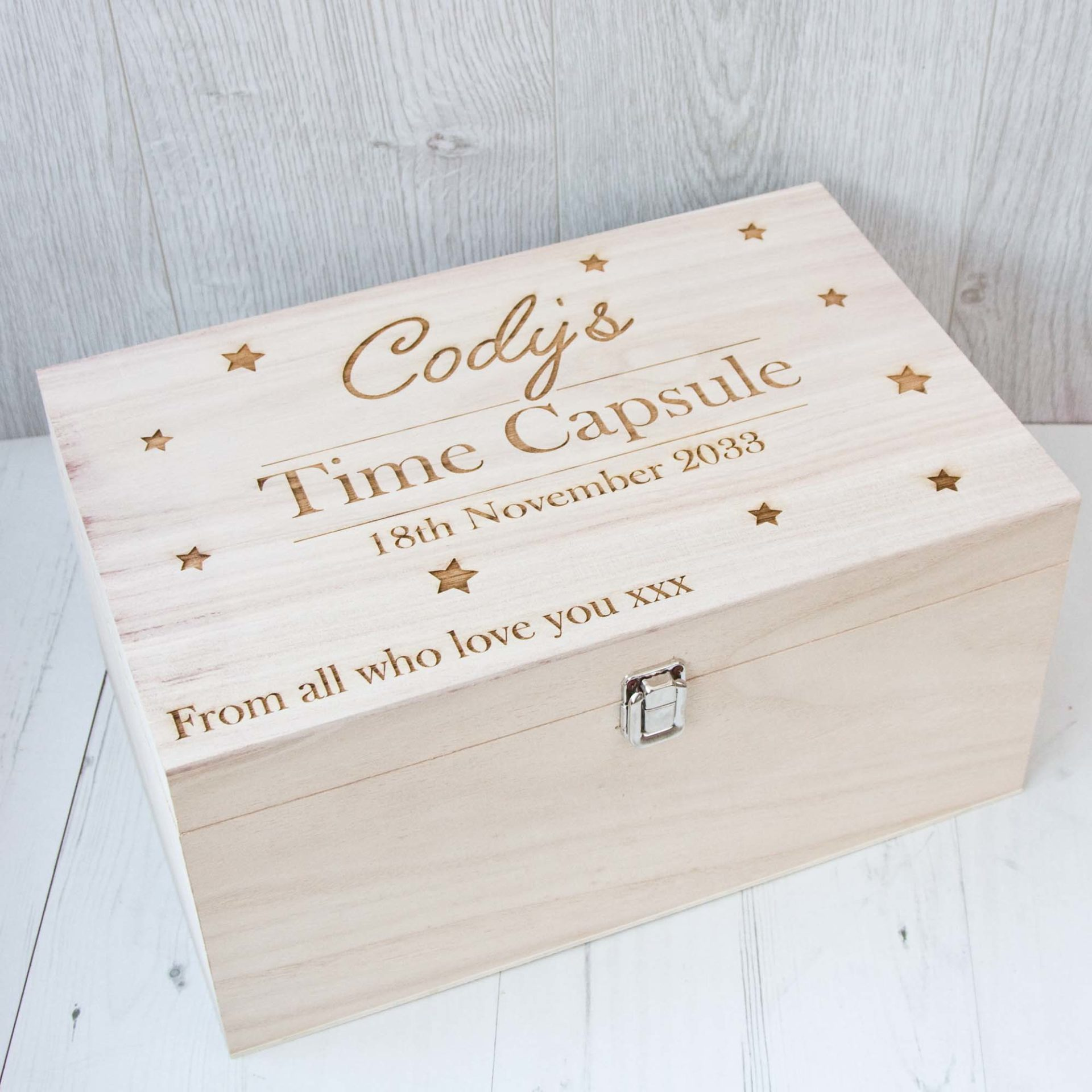 » Wooden Time Capsule Box