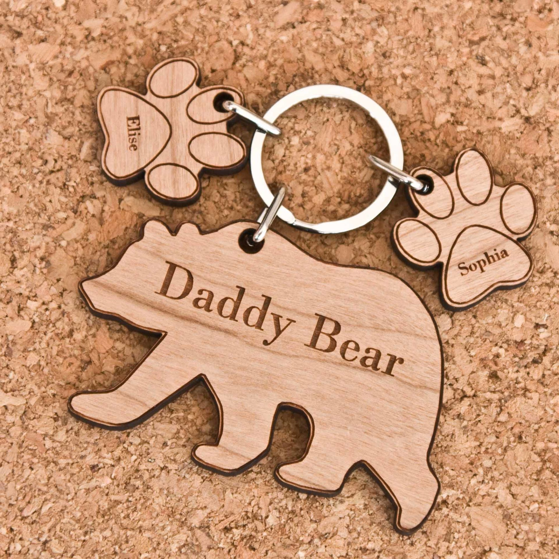 Bear Amp Child Paw Keyring The Laser Boutique