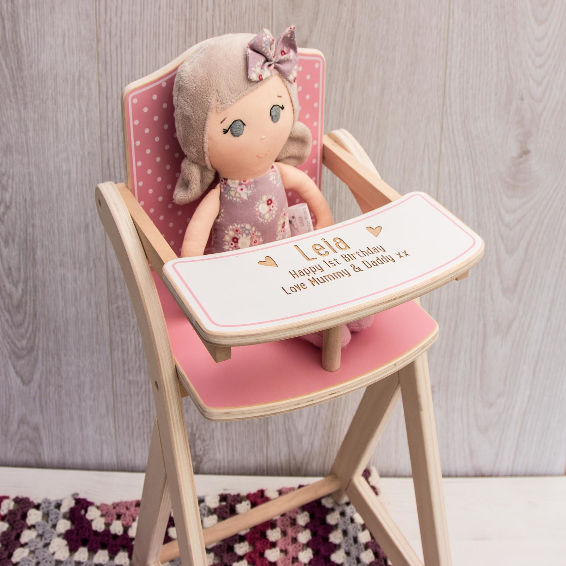 Dolls High Chair The Laser Boutique