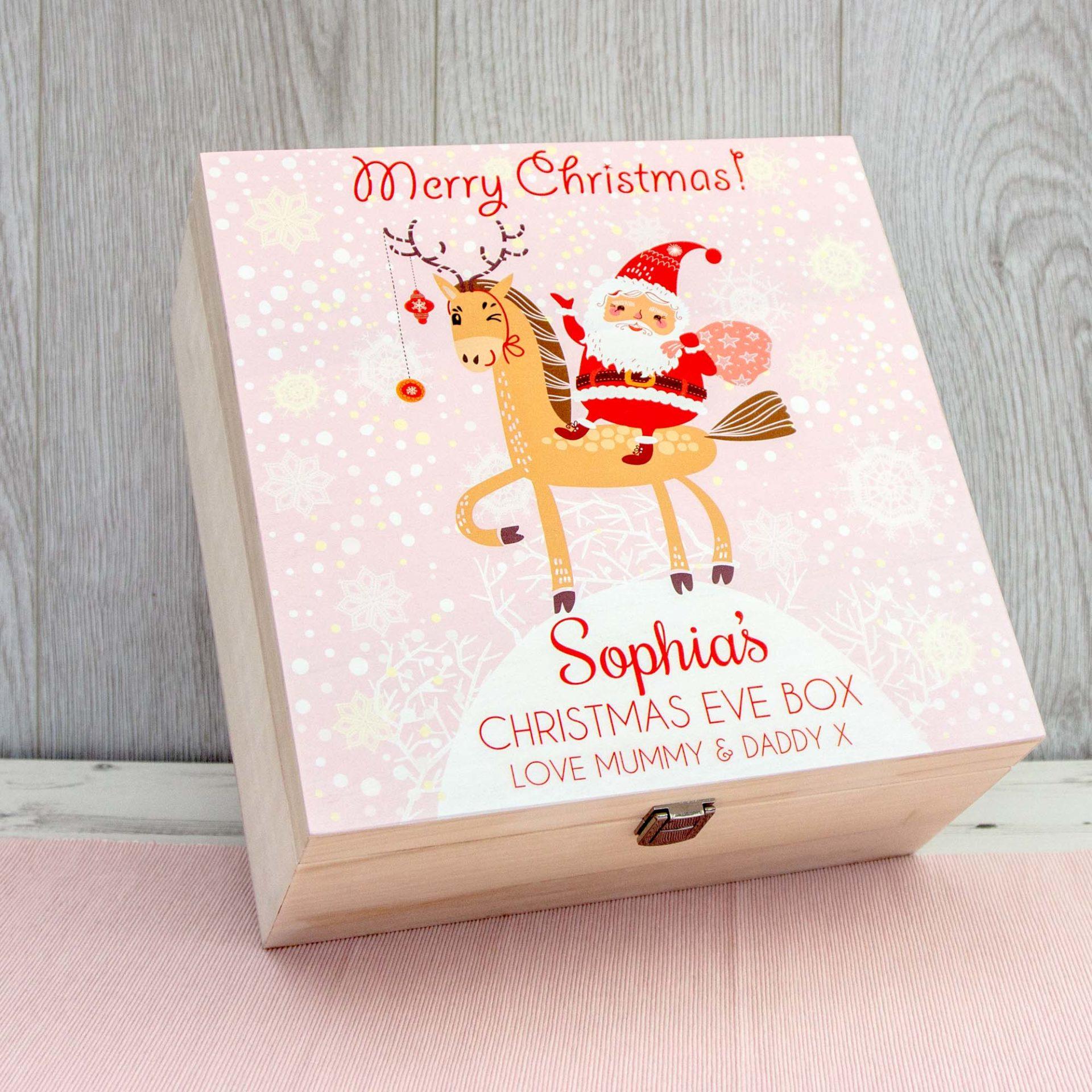 Christmas Eve Box Pink Santa & Rudolph Early Bird Offer