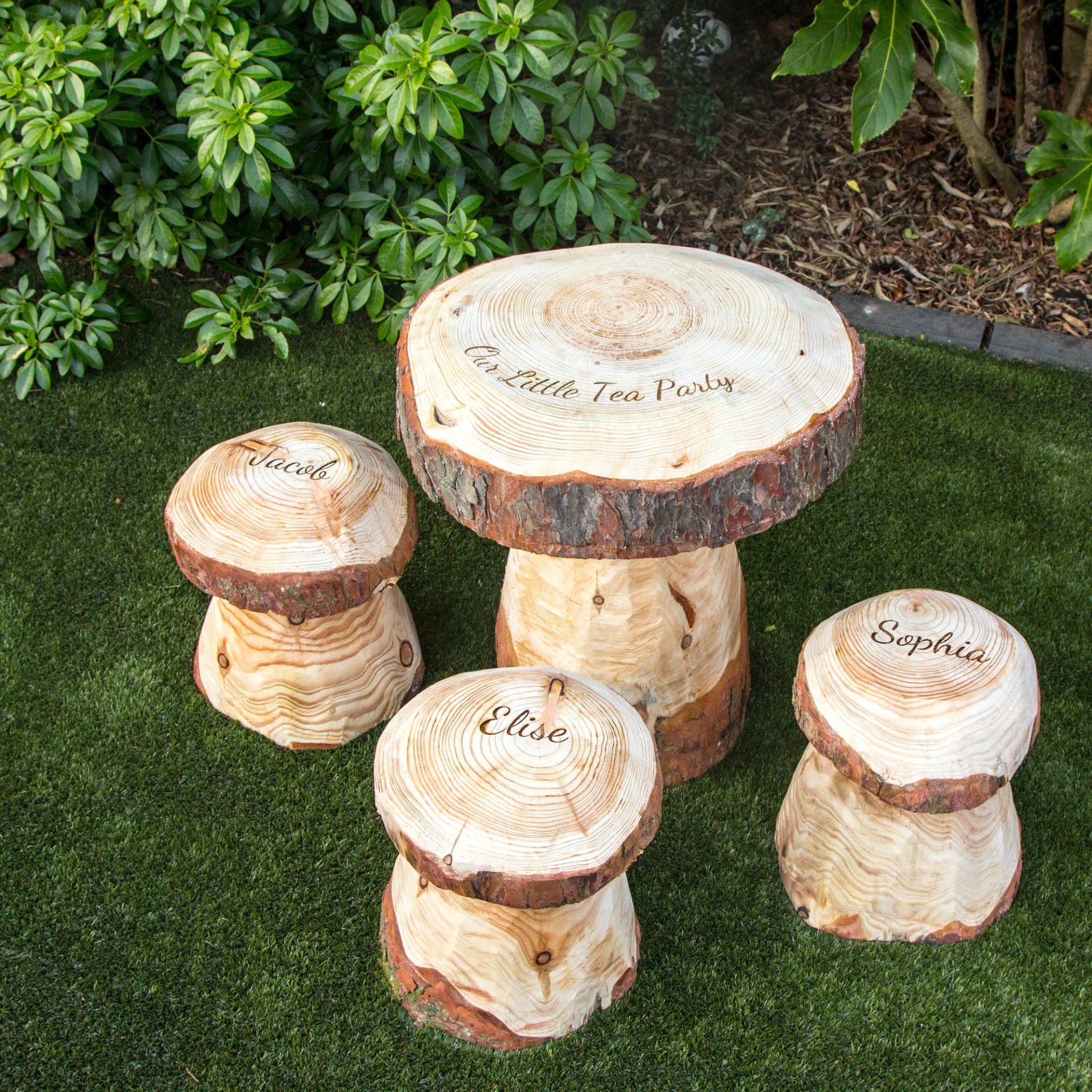 Toadstool Outdoor Table Tea Party Set