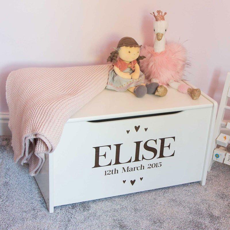 Toy Box Engraved Children S Storage